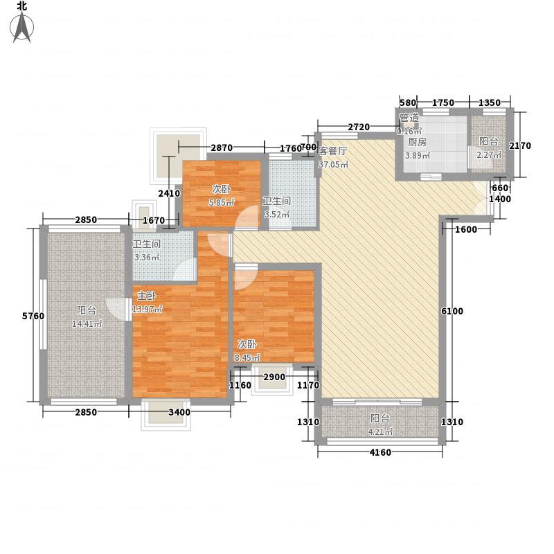 鸿景园户型3室2厅2卫