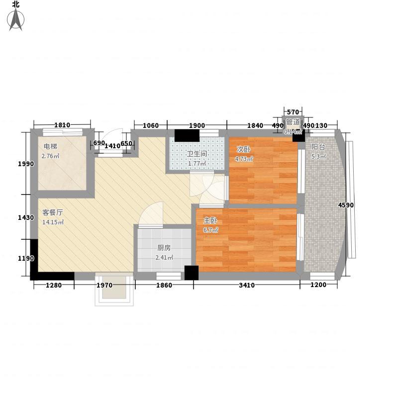 索丽苑57.29㎡索丽苑户型图第1梯04单位2室2厅1卫1厨户型2室2厅1卫1厨