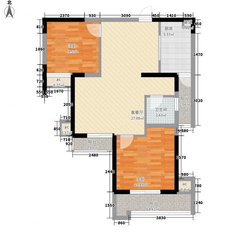百乐门悦府户型2室