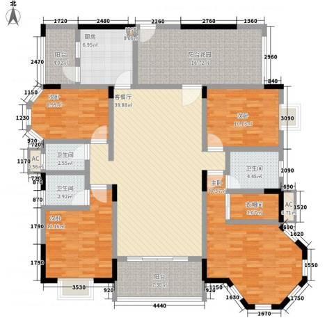 帝景蓝湾4室1厅3卫1厨170.00㎡户型图