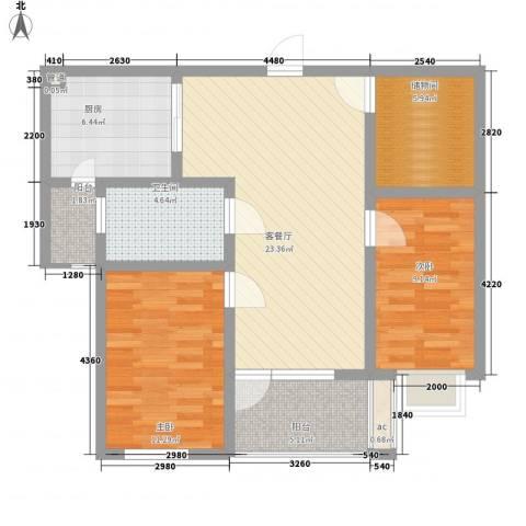 嘉顺花园2室1厅1卫1厨98.00㎡户型图