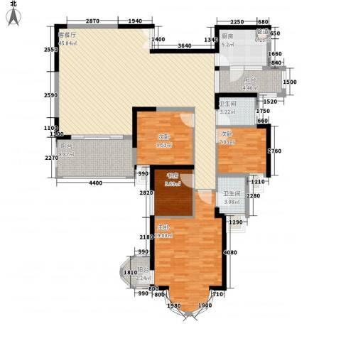 鸿景园4室1厅2卫1厨162.00㎡户型图