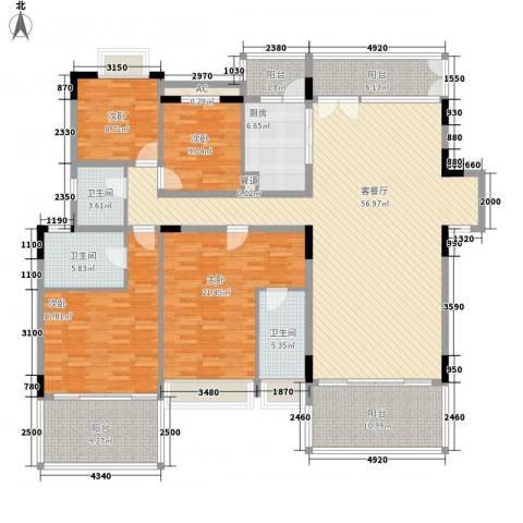 东江学府4室1厅3卫1厨234.00㎡户型图