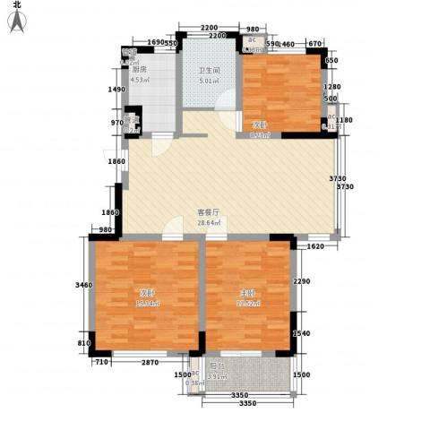 嘉顺花园3室1厅1卫1厨114.00㎡户型图