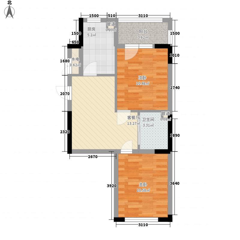 澳海㎡方1㎡69.00㎡澳海㎡方1㎡户型图波尔多组团29、33号楼D户型图2室2厅1卫户型2室2厅1卫
