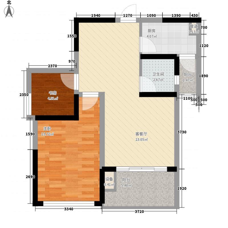 新加坡城81.00㎡1#楼09/10单元户型2室2厅1卫1厨