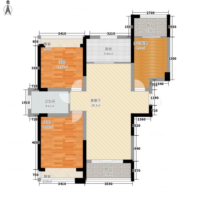 建业时光原著92.00㎡建业时光原著户型图A2奇数层户型2室2厅1卫1厨户型2室2厅1卫1厨