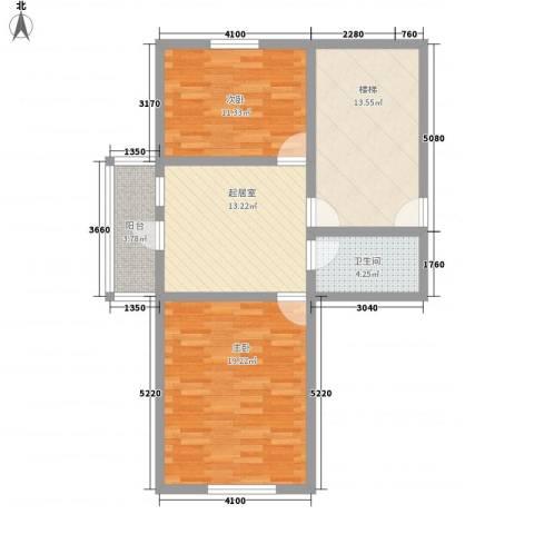 世代锦绣园2室0厅1卫0厨71.00㎡户型图