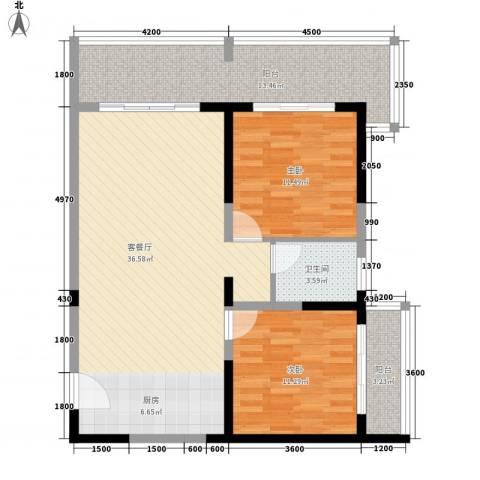 金色港湾2室1厅1卫0厨96.00㎡户型图