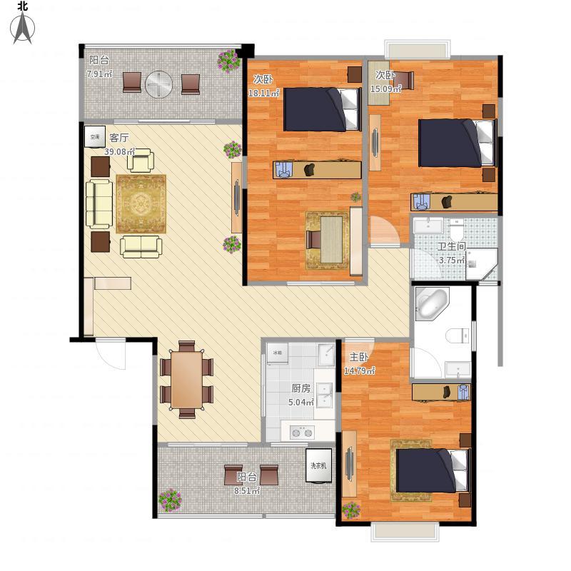 人和春天A区3井E1--3房2厅2卫