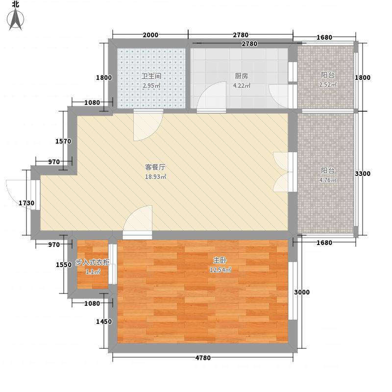 祥和家园38.97㎡户型1室1厅1卫1厨