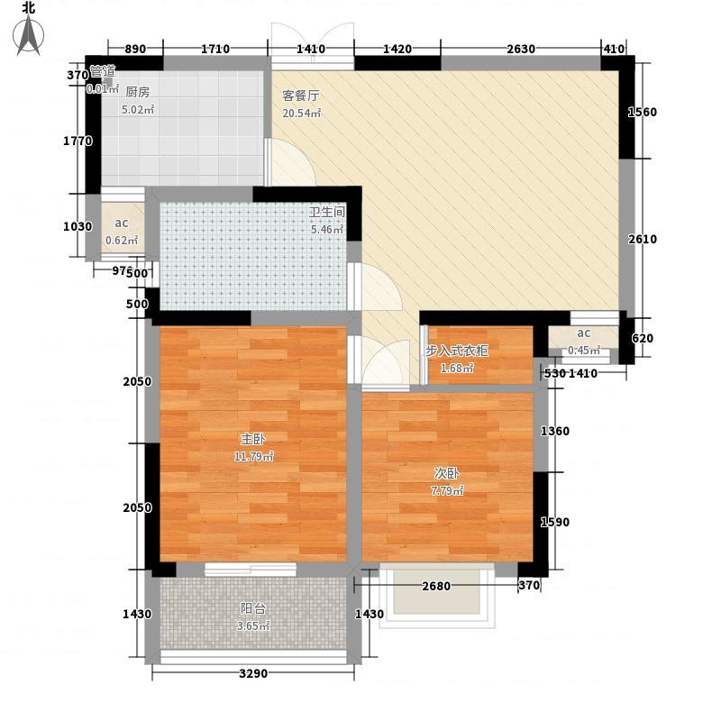 百合心苑83.42㎡百合心苑户型图户型C2室2厅1卫1厨户型2室2厅1卫1厨