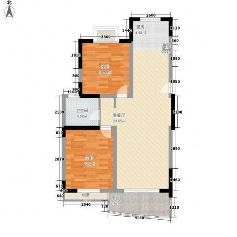 橄榄城2室1厅1卫0厨98.00㎡户型图