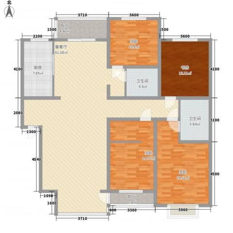 长大小区4室1厅2卫1厨201.00㎡户型图