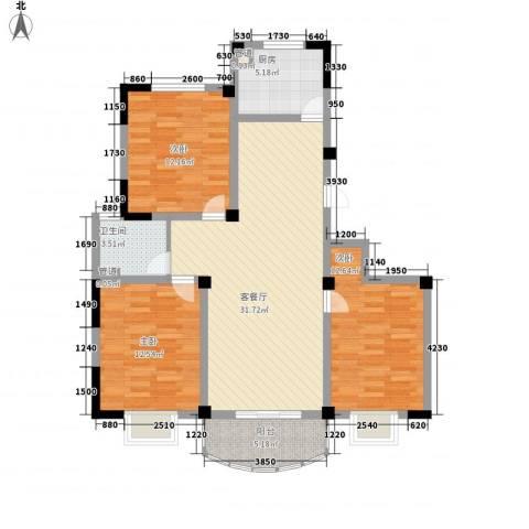 大诚苑二期3室1厅1卫1厨119.00㎡户型图