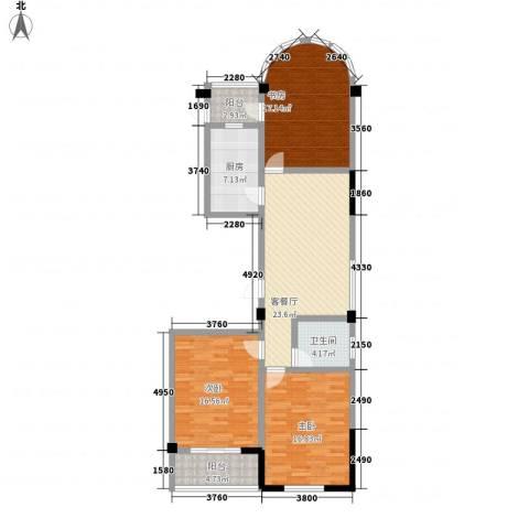 大诚苑二期3室1厅1卫1厨133.00㎡户型图