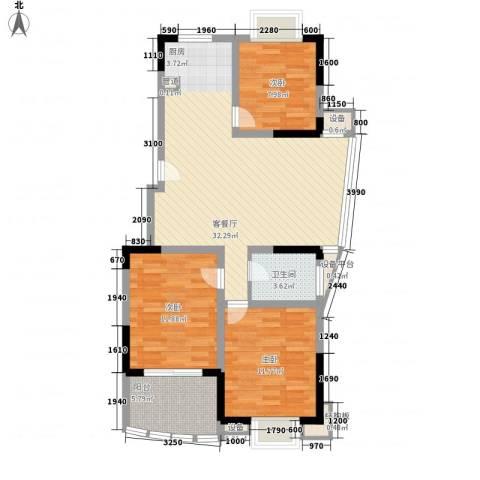 橄榄城3室1厅1卫0厨109.00㎡户型图