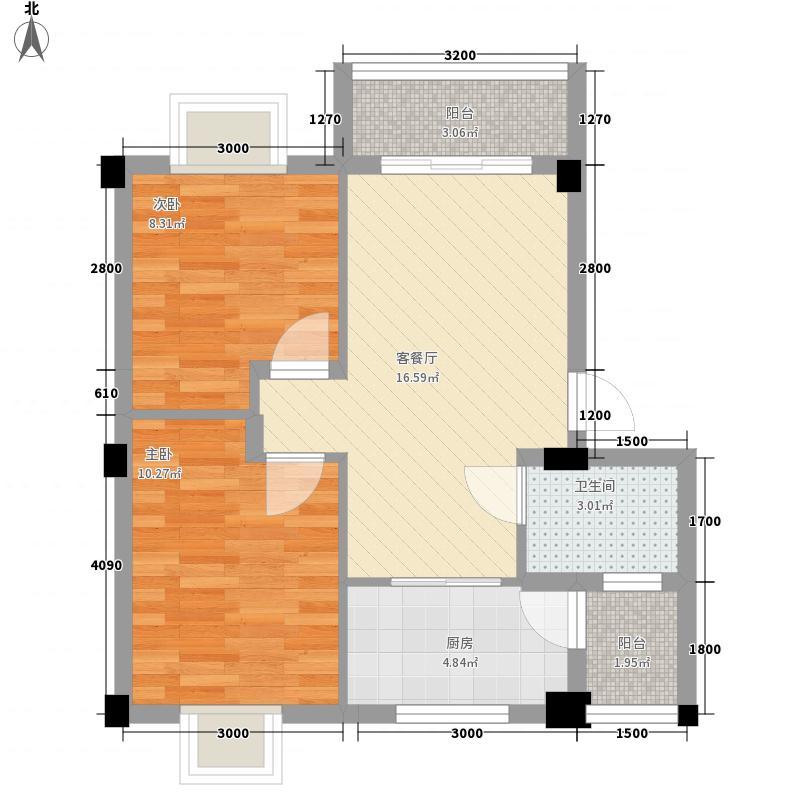 水岸怡园63.12㎡水岸怡园户型图C户型2室2厅1卫户型2室2厅1卫