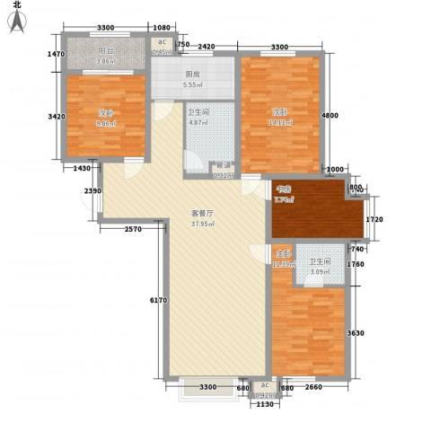 金桥花园4室1厅2卫1厨142.00㎡户型图