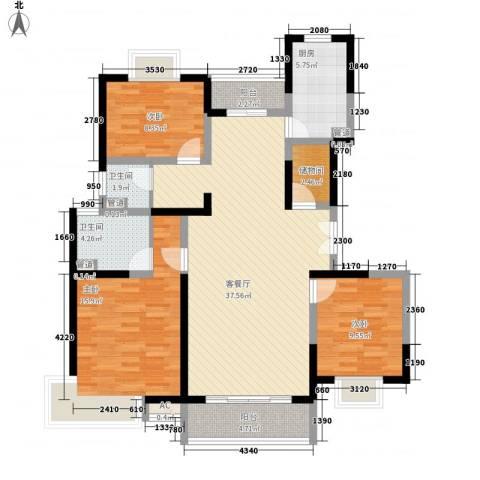联洋年华3室1厅2卫1厨137.00㎡户型图