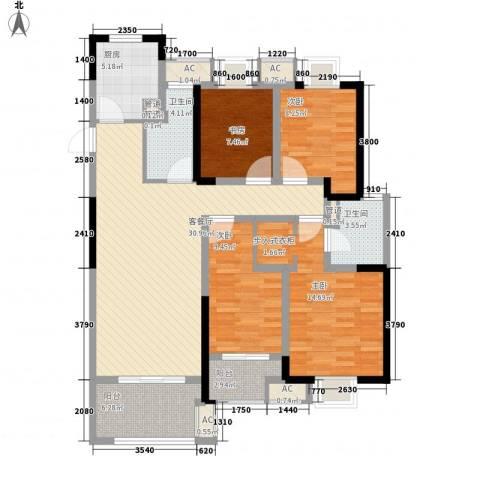 龙湖香醍漫步4室1厅2卫1厨142.00㎡户型图