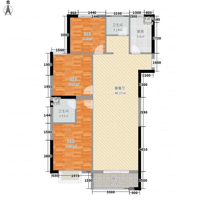 �景湾书香阁1#楼标准层B1户型