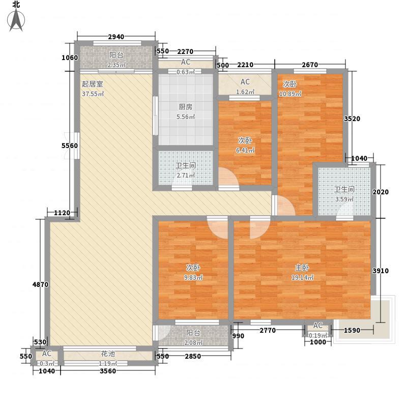爱地花园151.00㎡爱地花园4室户型4室