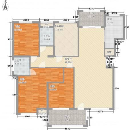 格兰小镇3室1厅2卫1厨150.00㎡户型图