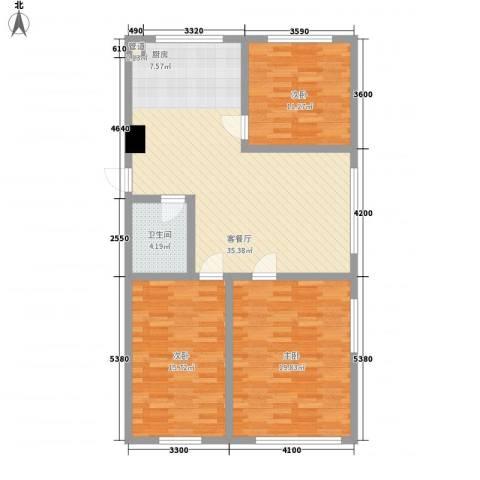 汇景星城3室1厅1卫0厨121.00㎡户型图