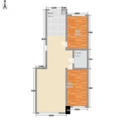 汇景星城2室1厅1卫0厨104.00㎡户型图