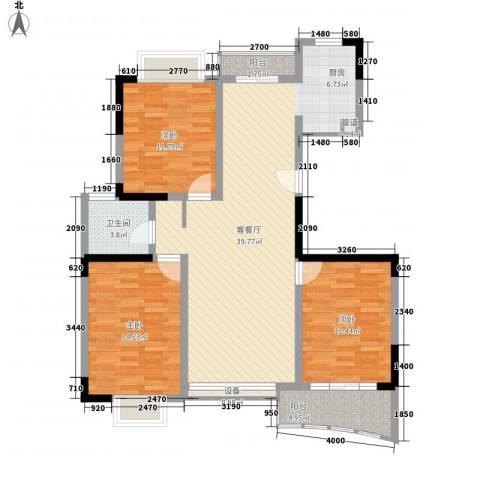 橄榄城3室1厅1卫0厨128.00㎡户型图