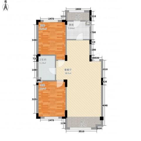 澳海�方1�2室1厅1卫1厨94.00㎡户型图