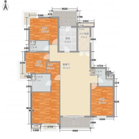 凯德汇豪天下4室1厅3卫1厨143.20㎡户型图