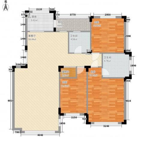 澳海�方1�3室1厅2卫1厨142.00㎡户型图