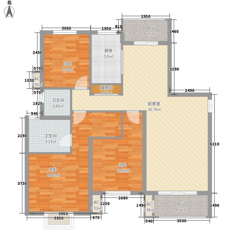 茂华国际汇140.00㎡茂华国际汇户型图02-D(已售完)3室2厅2卫户型3室2厅2卫