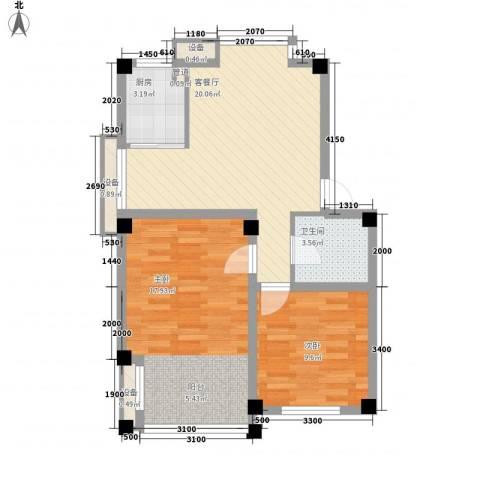 顺园一村2室1厅1卫1厨82.00㎡户型图