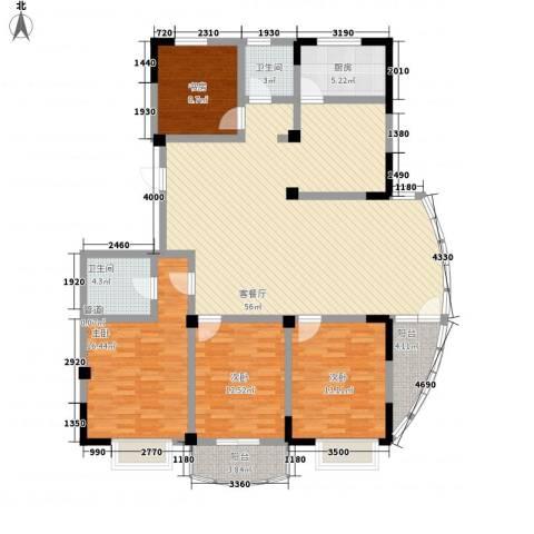 大诚苑二期4室1厅2卫1厨182.00㎡户型图