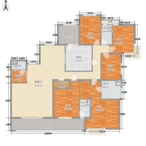 凯德汇豪天下5室1厅4卫1厨284.00㎡户型图