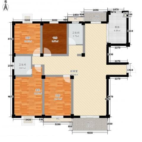 太湖明珠苑4室0厅2卫1厨175.00㎡户型图