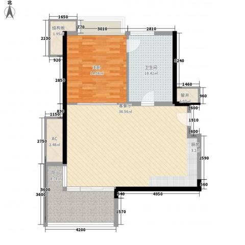 神州半岛朝阳海岸1室1厅1卫0厨97.00㎡户型图