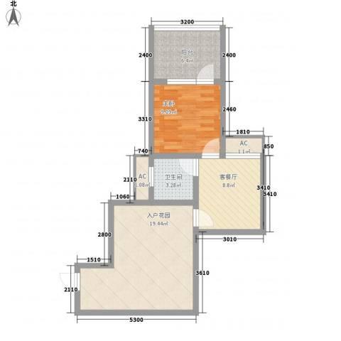 龙潭・温泉印象1室1厅1卫0厨56.00㎡户型图