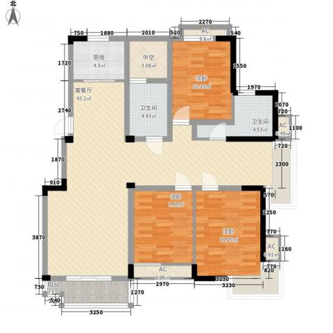 五一花园3室1厅2卫1厨143.00㎡户型图