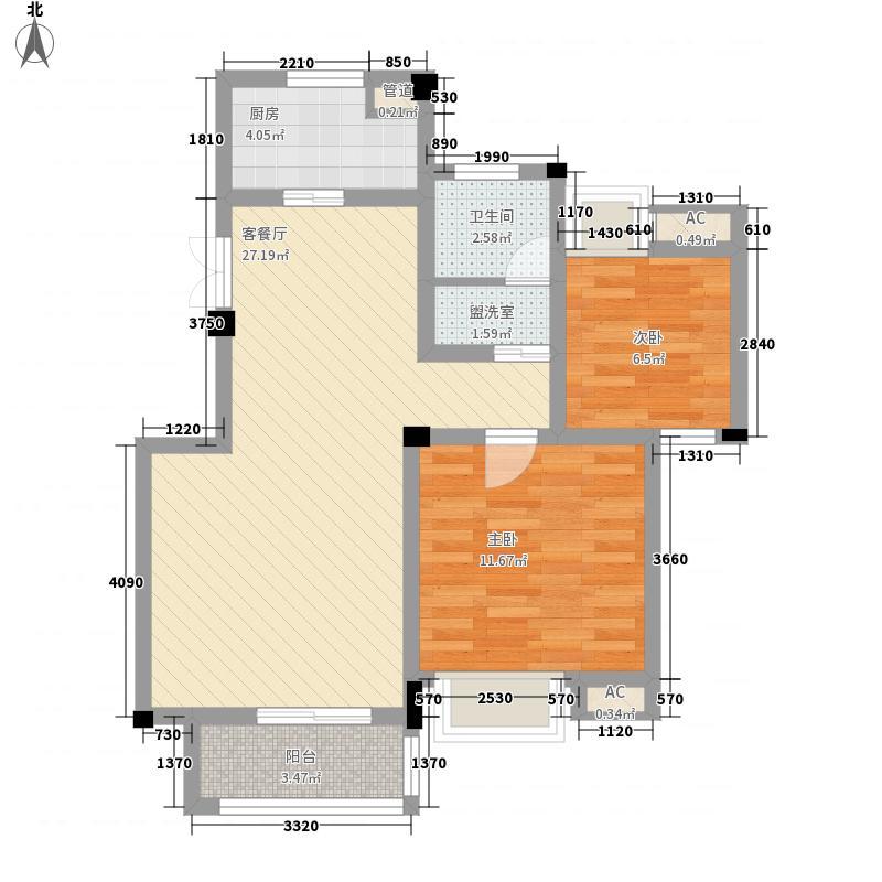 五一花园87.90㎡五一花园户型图2室2厅1卫1厨户型10室
