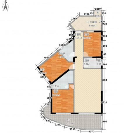博鳌海御3室1厅2卫1厨150.00㎡户型图