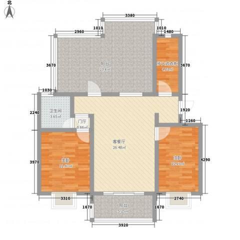 润达小区2室1厅1卫0厨99.00㎡户型图
