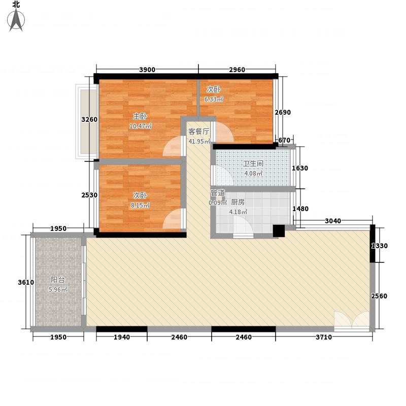 东港印象71.65㎡东港印象家园户型图A座F户型图2室2厅1卫户型2室2厅1卫