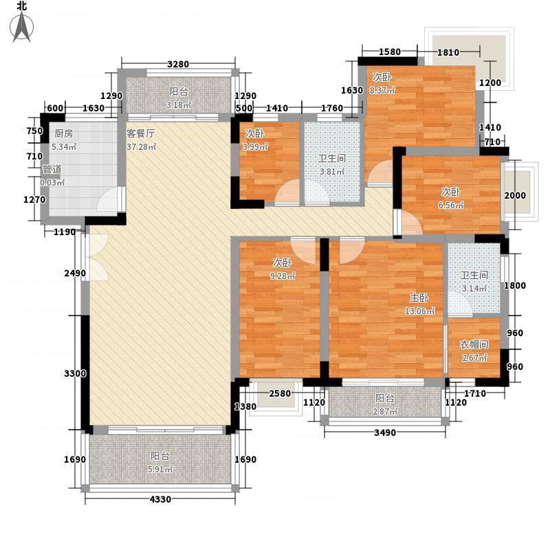 新安大厦153.00㎡新安大厦4室户型4室