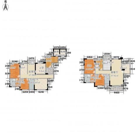石竹山水园四期4室1厅4卫1厨234.00㎡户型图