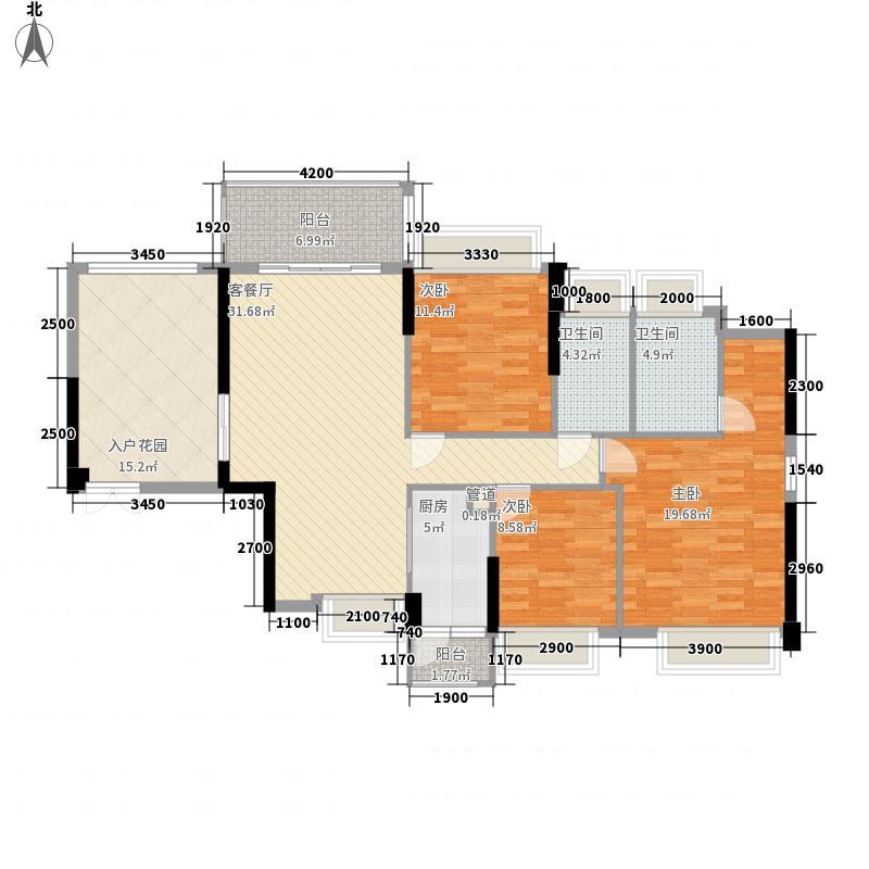 佳兆业中央豪门12.00㎡8栋2-30层05、06户型3室2厅2卫1厨