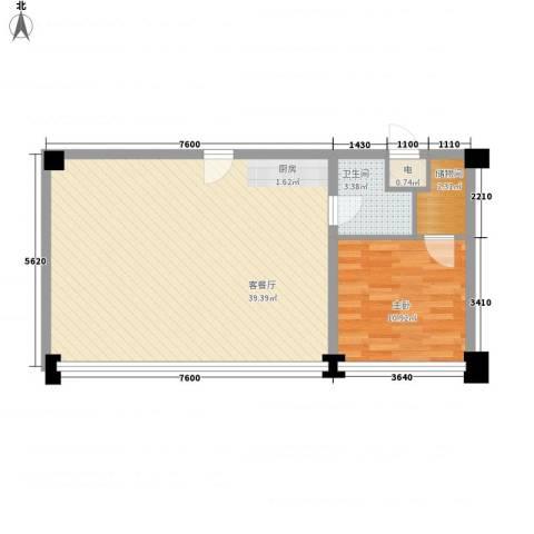 天富公馆1室1厅1卫0厨109.00㎡户型图